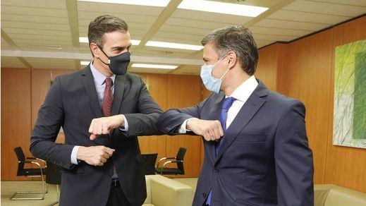 Reunión de Pedro Sánchez y Leopoldo López