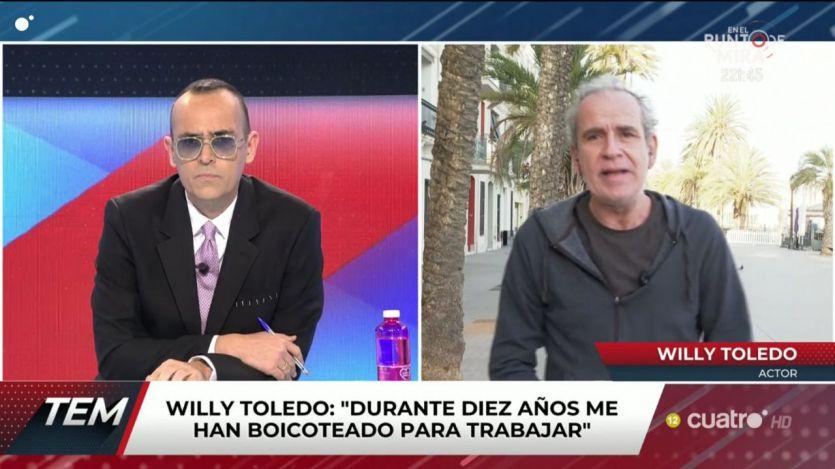 La comentada entrevista de Risto Mejide a Willy Toledo