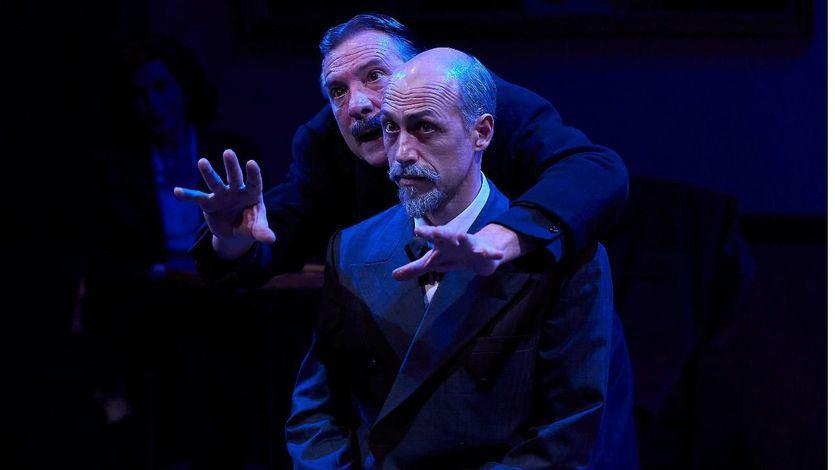 Xavier Ripoll  y Álex Casanovas en un momento de la representación