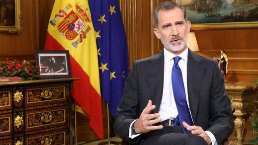 El Rey triunfó en audiencia: casi 11 millones de españoles, cifra récord, siguieron su mensaje en directo