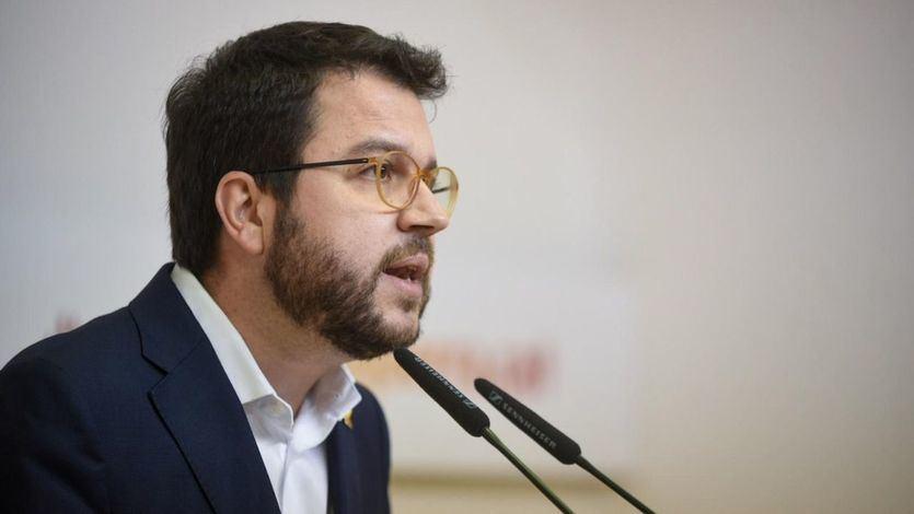 El president en funciones de la Generalitat, Pere Aragonés