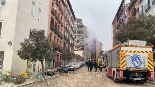 Las imágenes de la fuerte explosión que ha destrozado un edificio en Madrid