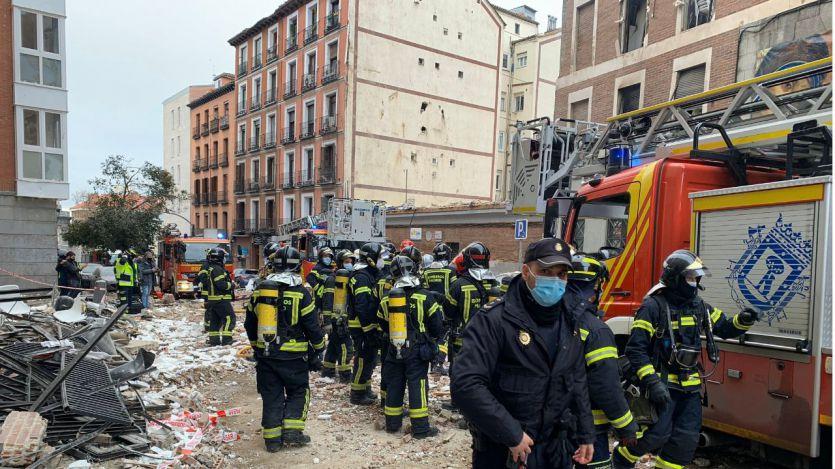 Explosión en un edificio en Madrid