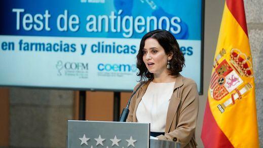 Madrid hará test de antígenos gratis en farmacias y clínicas dentales en zonas muy afectadas por el coronavirus