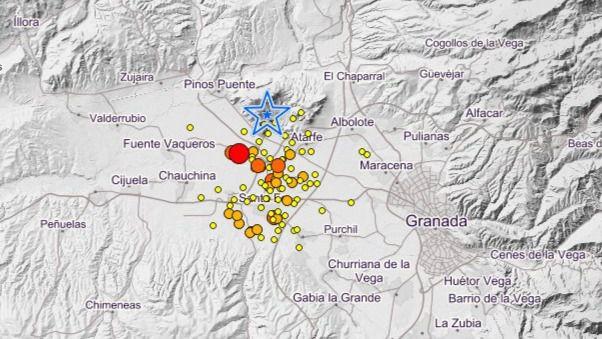Una noche muy tensa en Granada: así ataca el 'enjambre sísmico'