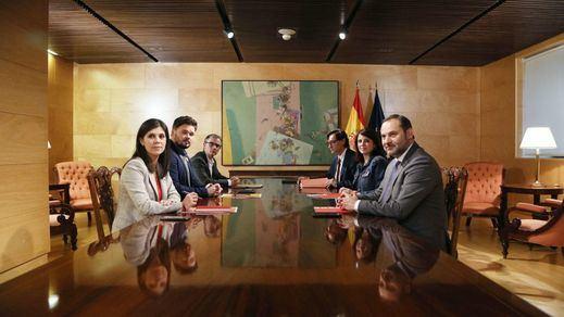 El PSOE y Podemos aceptan la petición de ERC para reactivar la mesa de diálogo sobre Cataluña
