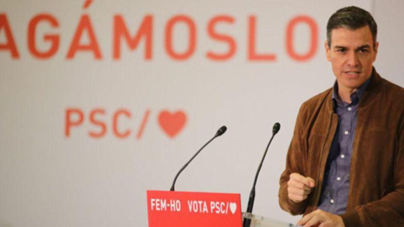 Sánchez dice que Illa es el único que propone dejar el pasado: 'Independentistas y la derecha son la decadencia'