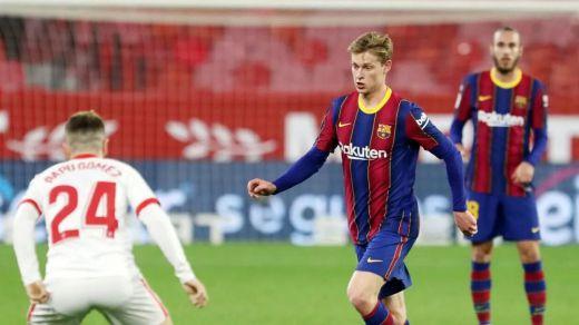 El Sevilla se adelanta al Barça en semifinales de Copa (2-0)