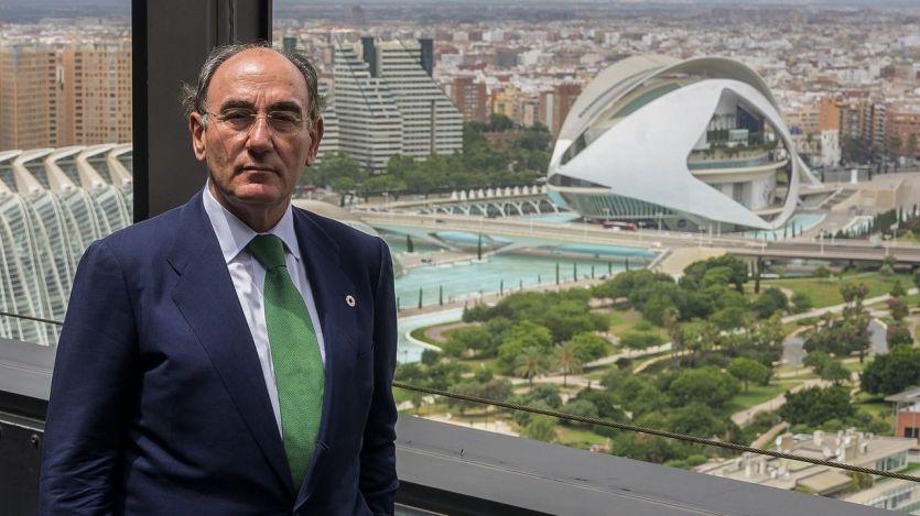 Ignacio Galán en las oficinas de Iberdrola en València
