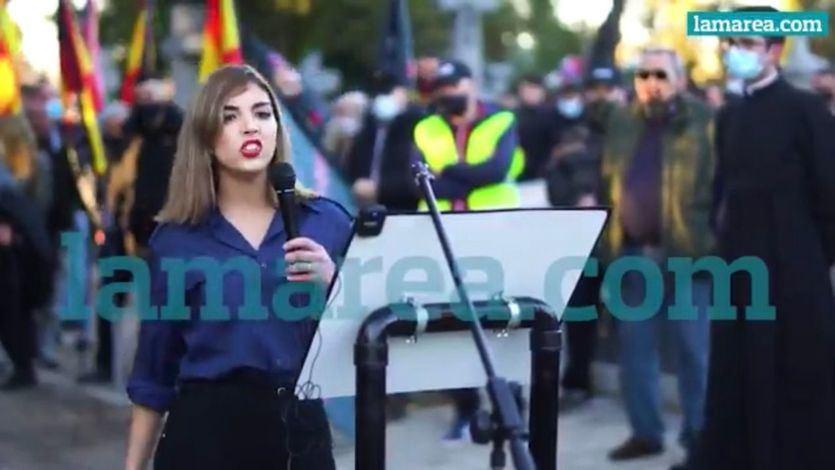 Isabel Peralta, en un acto de homenaje a la División Azul
