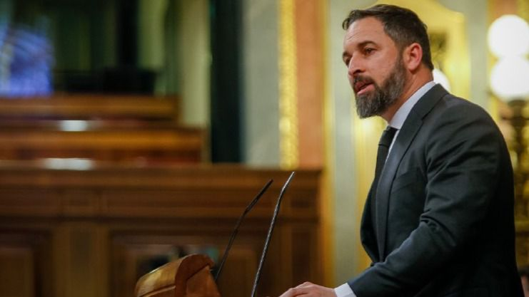Abascal acusa al Gobierno de Sánchez de ser la verdadera 'anomalía democrática'