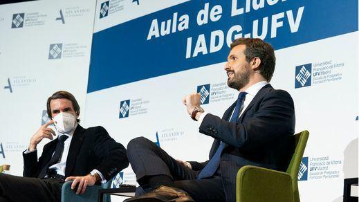 Casado reivindica ante Aznar el