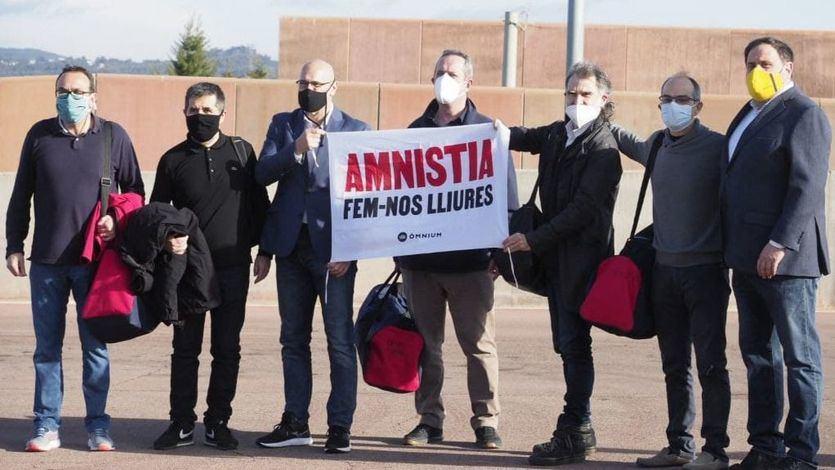 Los presos independentistas, el pasado mes de febrero