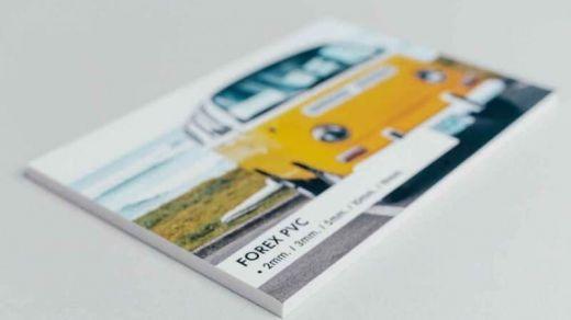 Conoce las ventajas del material Forex para la impresión de fotos o cartelería en tu negocio