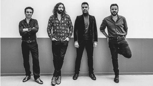 Los cuatro músicos que integran Combo Paradiso (foto Maite Moreno)