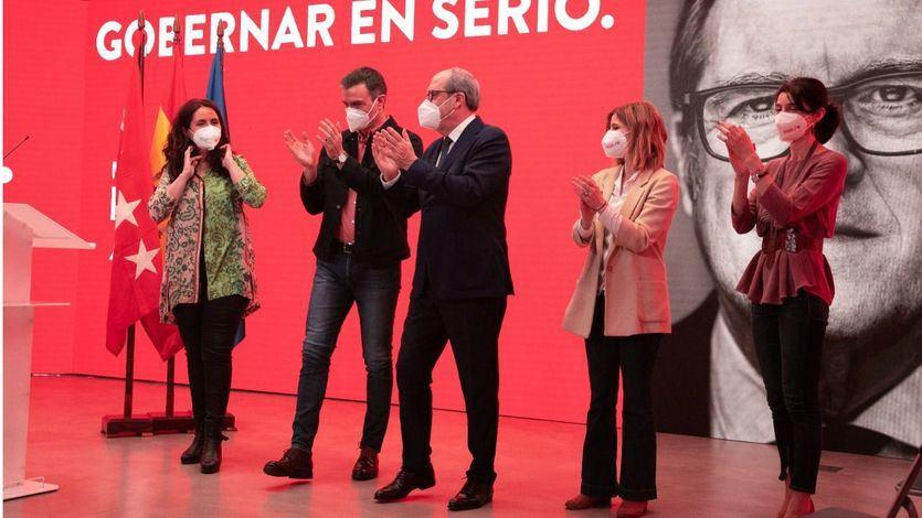 Sánchez arropa a Gabilondo en un acto de campaña y critica el 'Gobierno de Colón'