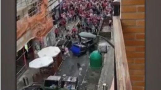 Graves altercados en Bilbao durante la previa de la final de copa