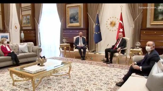 Desplante machista de Erdogan a la presidenta de la Comisión Europea, Ursula von der Leyen