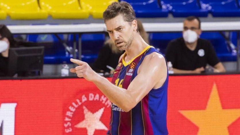 Amargo 'redebut' de Pau Gasol con el Barça en su regreso al baloncesto europeo