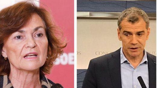 Toni Cantó reprocha a Carmen Calvo sus excesos en gastos protocolarios