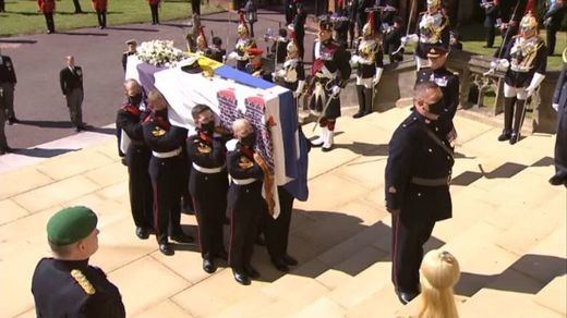 El último adiós al duque de Edimburgo: un funeral solemne, marcado por la pandemia