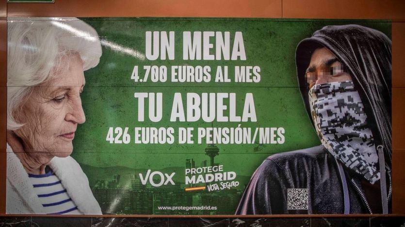 Oleada de críticas a Vox por su controvertido cartel electoral contra los menas