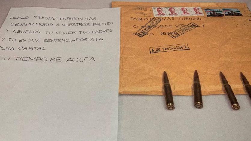 Las cartas con balas llegaron a sus destinatarios por un fallo del vigilante de seguridad