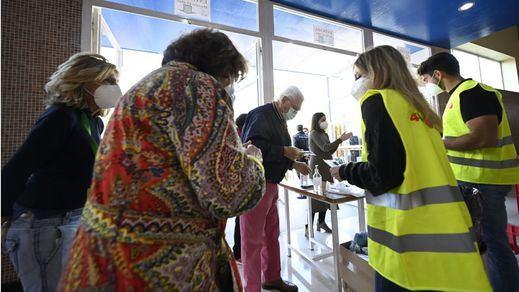 La participación al mediodía llega al 28,4%, 2 puntos más que en 2019