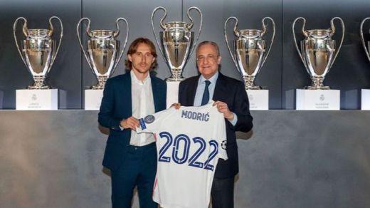 Luka Modric renueva con el Real Madrid un año más, hasta 2022