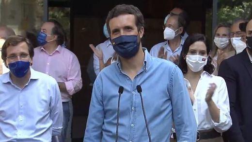 'Pablo Casado nos has abandonado', el grito al líder del PP antes de llegar a Colón