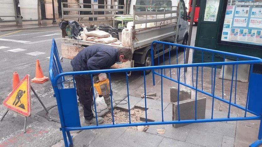 Reparacion de las aceras Alicante