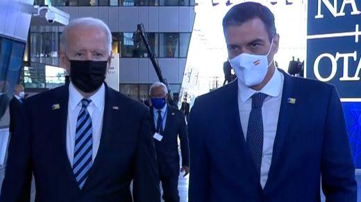 El Gobierno asegura que Sánchez y Biden hablaron también fuera del foco de las cámaras
