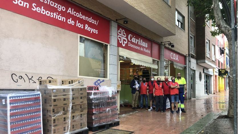 Mercadona dona 5.000 kilos de productos de primera necesidad a Cáritas de San Sebastián de los Reyes y Alcobendas