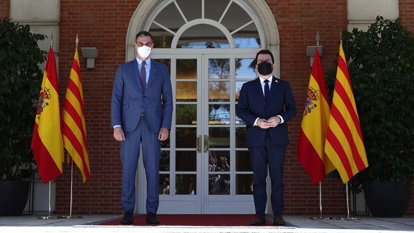 Primera reunión oficial entre Pedro Sánchez y Pere Aragonès en Moncloa