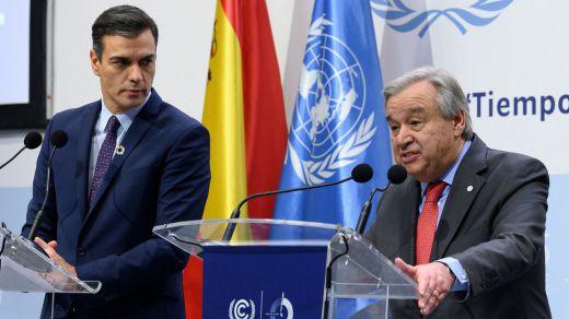 El secretario general de la ONU respalda al Gobierno por la búsqueda del