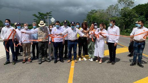 El presidente de Colombia, Iván Duque, inaugura la primera concesión de Sacyr en el país