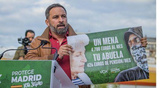 La Justicia madrileña avala el polémico cartel de Vox contra los menores extranjeros