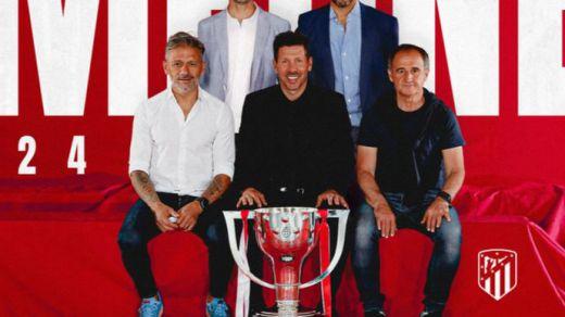 Simeone y su equipo técnico renueva con el Atlético hasta 2024