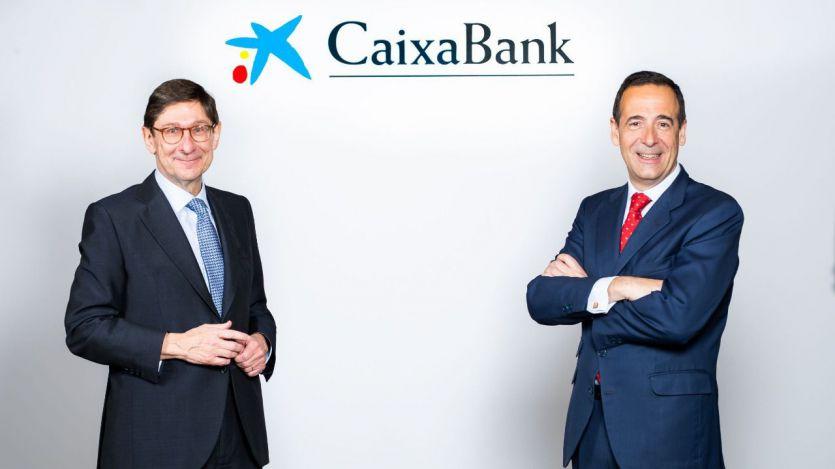 José Ignacio Goirigolzarri, presidente de CaixaBank, y Gonzalo Gortázar, consejero delegado de CaixaBank