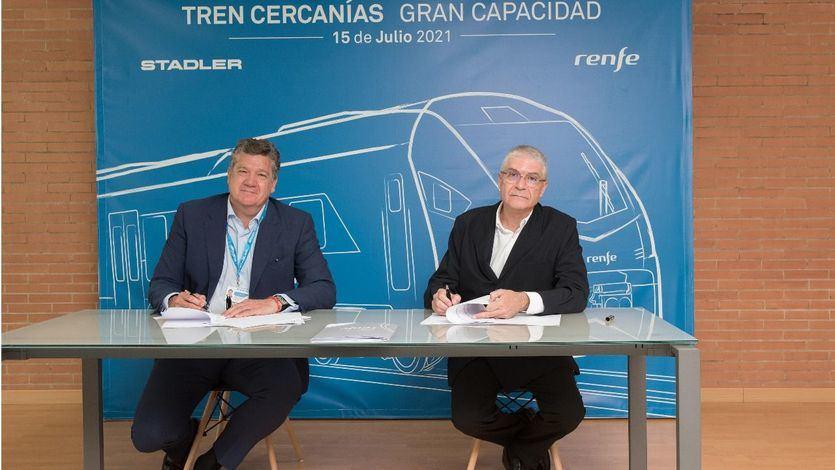 Renfe y Stadler firman el contrato para la compra de 59 trenes de gran capacidad para Cercanías