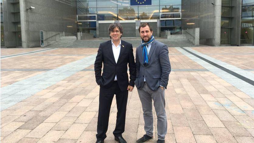 Carles Puigdemont y Antoni Comí
