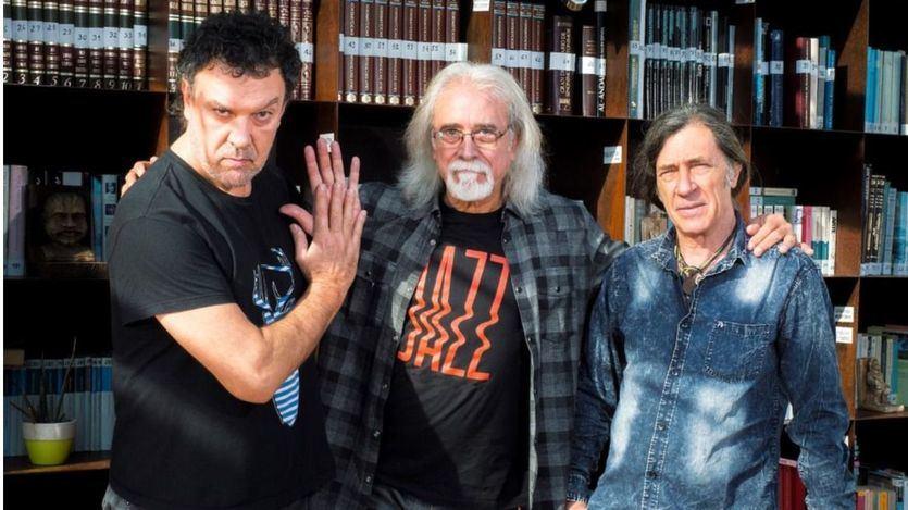 Di Geraldo, Benavent y Pardo, de izquierda a derecha.