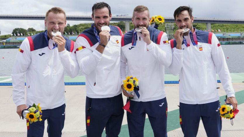 El K4 500 conquista la medalla de plata en Tokio 2020