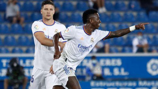 El Madrid se reencuentra con el gol en su estreno liguero (1-4)