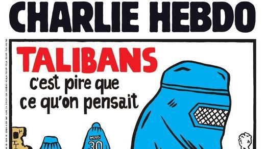 La aplaudida portada de la revista 'Charlie Hebdo' sobre Afganistán y los talibanes