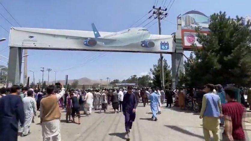 El caos reina en el aeropuerto de Kabul: al menos 7 civiles afganos muertos en las últimas horas