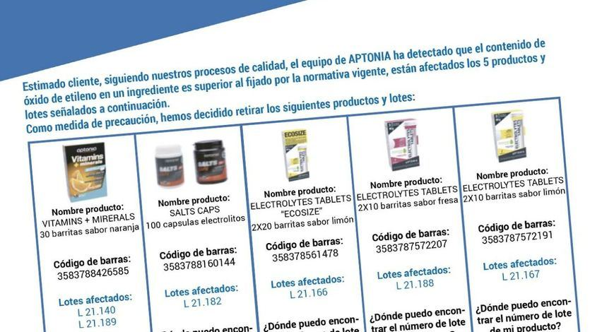 Decathlon retira 5 productos por contener óxido de etileno