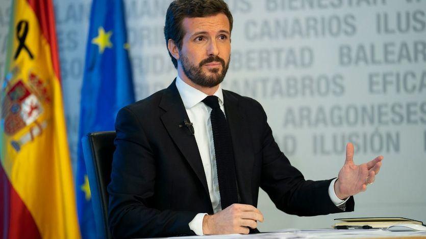 Casado critica la actitud 'triunfalista' de Sánchez mientras la población 'lo sigue pasando mal'