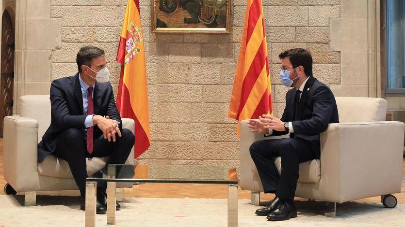 Sánchez y Aragonès mantienen posiciones alejadas pero acuerdan 'trabajar sin pausa y sin plazos'