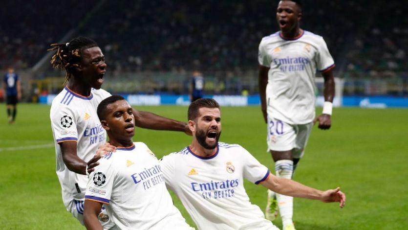 Rodrygo celebra su gol
